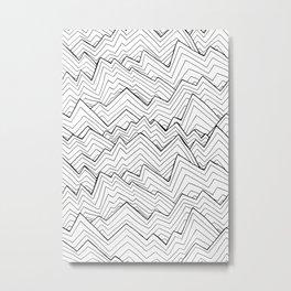 The rough white waves Metal Print