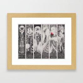 Six Creepy Opera Birds Framed Art Print