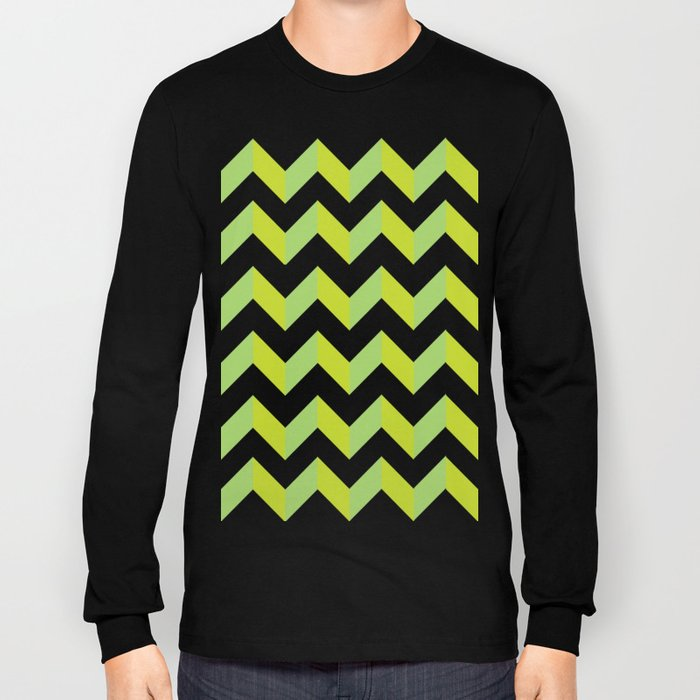 green pattern geometric Long Sleeve T-shirt