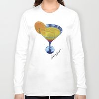 martini Long Sleeve T-shirts featuring Sunset Martini by Shawn Stomp