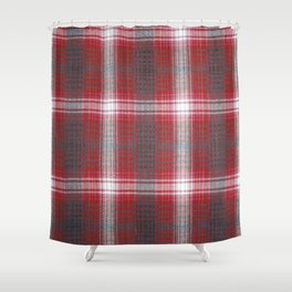 Texture #19 Plaid fabric. Shower Curtain