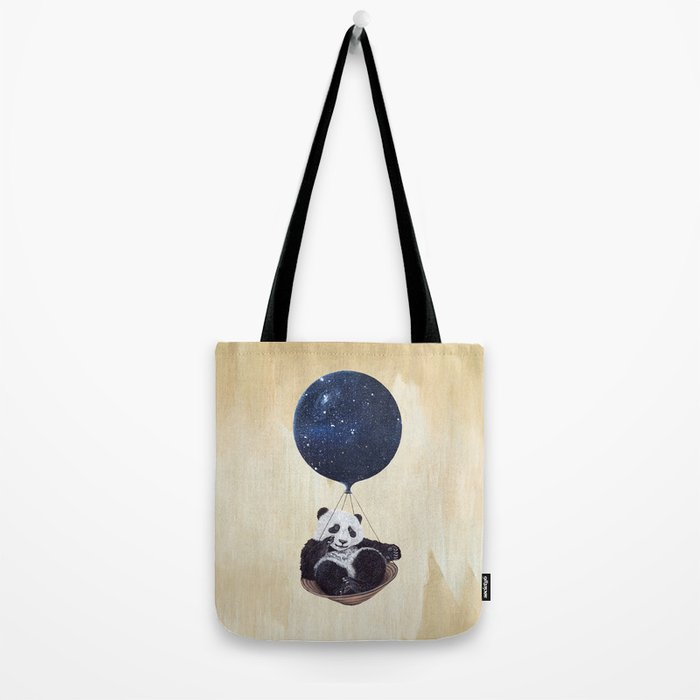 Panda in space Tote Bag