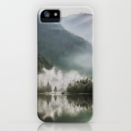 Dreamlike Morning at the Lake - Nature Forest Mountain Photography iPhone Case