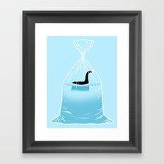 Loch Ness Golden Fish Framed Art Print