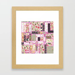 Quilt patterns style Framed Art Print