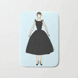 Audrey Hepburn Vintage Retro Fashion 1 Bath Mat