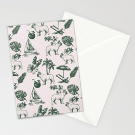 Tropical Dogs Stationery Cards