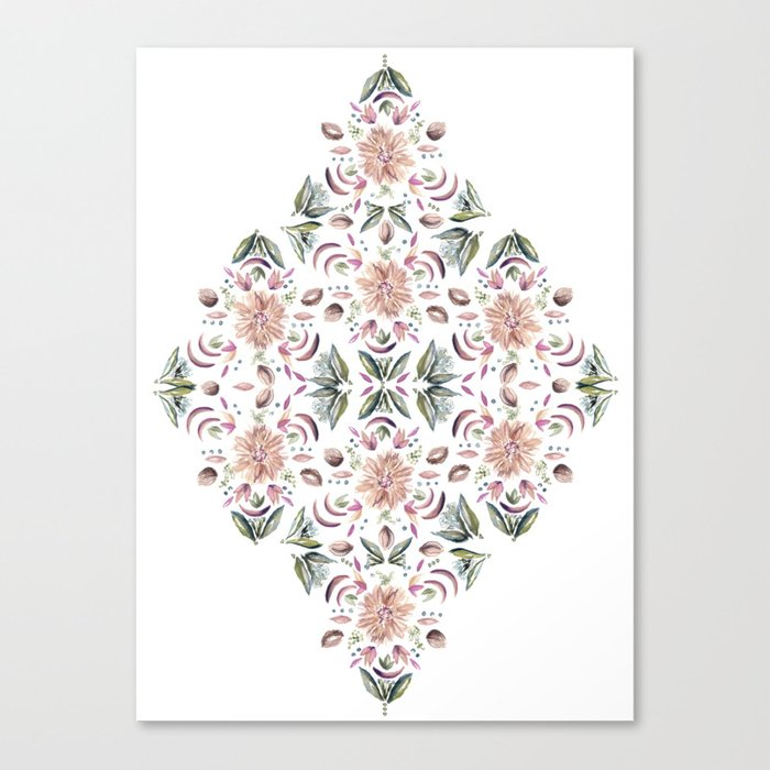 Tribe Floral Vibes Canvas Print