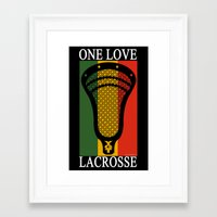 lacrosse Framed Art Prints featuring Lacrosse OneLove by YouGotThat.com