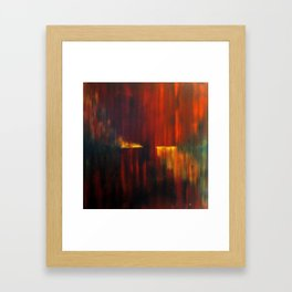 Fire on Water Framed Art Print