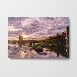 James River Sunset Metal Print