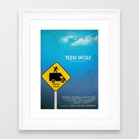 teen wolf Framed Art Prints featuring Teen Wolf by Tommaso Valsecchi