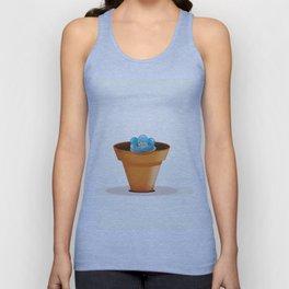 Pretty Blue flower in a pot Unisex Tank Top