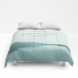 Blue Lake + Tolkien Quote Comforters