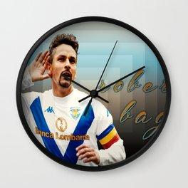 roberto baggio Wall Clock