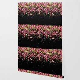 Black drooping flowers Wallpaper