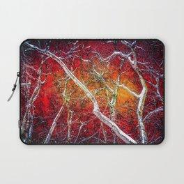 Red winter night Laptop Sleeve