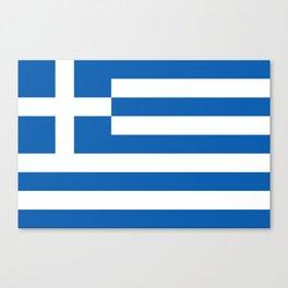 Flag of Greece, High Quality image Canvas Print