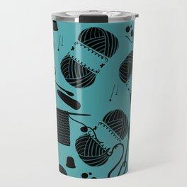yarn teal Travel Mug