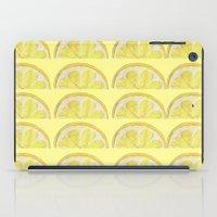 lemon iPad Cases featuring Lemon by krrstnn