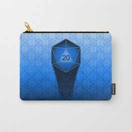 D20 All I Do Is Crit!  Blue Ombre Carry-All Pouch