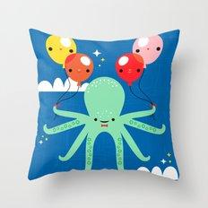 Sky Octopus Throw Pillow