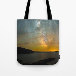 Milky Way Galaxy in Manitoba Tote Bag