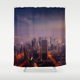 City sky view Shower Curtain