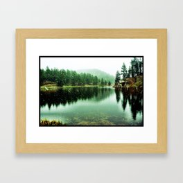 Snow on Red Tooth Framed Art Print
