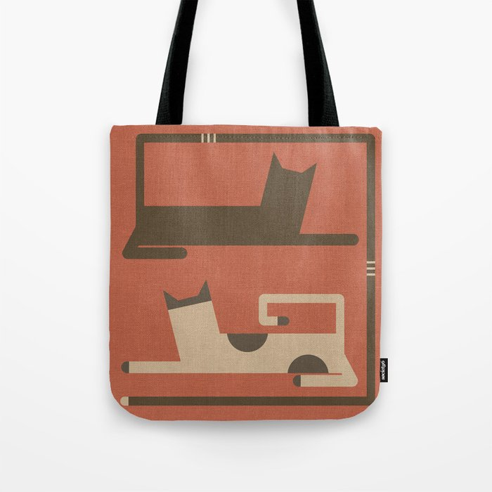 CATS IN LOVE (abstract animals) Tote Bag