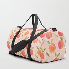 Peaches gouache painting Duffle Bag
