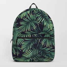 Green palm leaves Backpack
