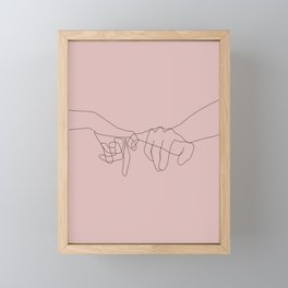 Blush Pinky Framed Mini Art Print