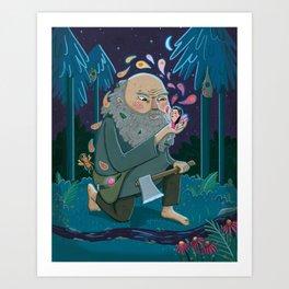 Giant & Fairies Art Print
