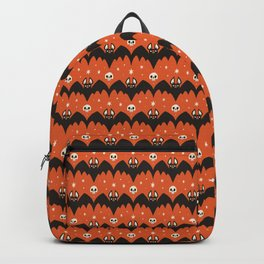 Bats & Skulls (ORANGE) Backpack