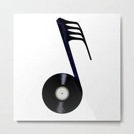 Isolated Record Note Metal Print