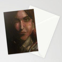 Lara Croft oil painting Stationery Cards