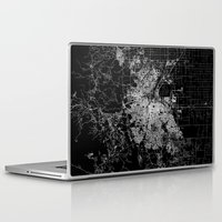denver Laptop & iPad Skins featuring Denver map by Line Line Lines