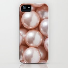 Blush Pink Pearls iPhone Case