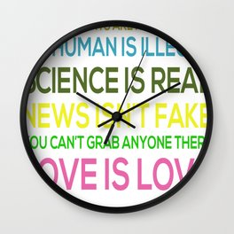 Science Is Real News Isnt Fake Wall Clock