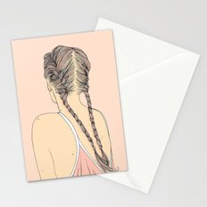 Pretty In Pink Pigtails Stationery Cards