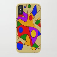 kandinsky iPhone & iPod Cases featuring Abstract #206 by Ron (Rockett) Trickett