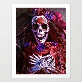 Red Catrina Art Print