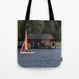 Boating on the Connecticut River Tote Bag