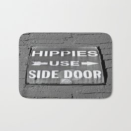 Hippies Use Side Door Bath Mat