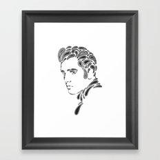 Elvis Paisley Framed Art Print