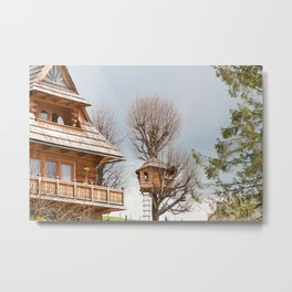 Fairy wooden tree house Metal Print