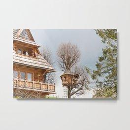 Fairy wooden tree house Metal Print
