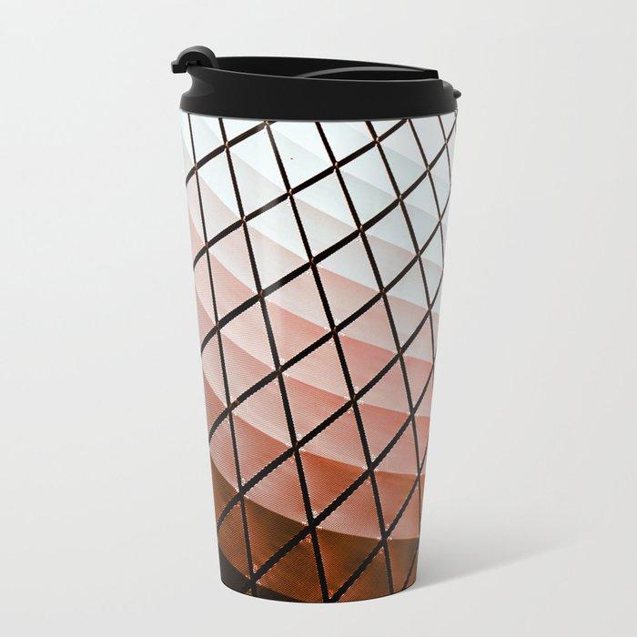 Geometric Dome Metal Travel Mug