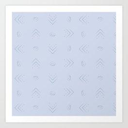 Simplistic Pattern Art Print